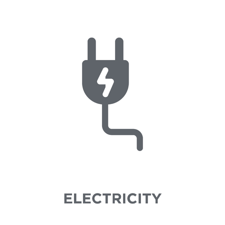 Electricity icon. Electricity design concept from  collection. Simple element vector illustration on white background.