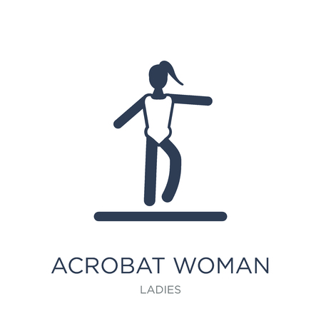 Acrobat Woman icon. Trendy flat vector Acrobat Woman icon on white background from Ladies collection, vector illustration can be use for web and mobile, eps10