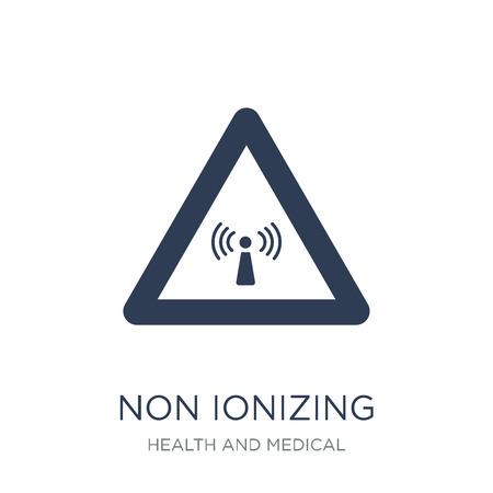 Icône de rayonnement non ionisant. Icône de rayonnement non ionisant de vecteur plat sur un fond blanc de la collection santé et paramédical, illustration vectorielle peut être utilisé pour le web et mobile, eps10