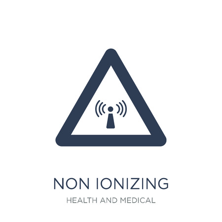 Non ionizing radiation icon. Trendy flat vector Non ionizing radiation icon on white background from Health and Medical collection, vector illustration can be use for web and mobile, eps10  イラスト・ベクター素材