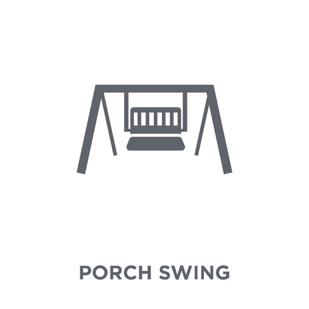 porch swing icon. porch swing design concept from Furniture and household collection. Simple element vector illustration on white background. 向量圖像