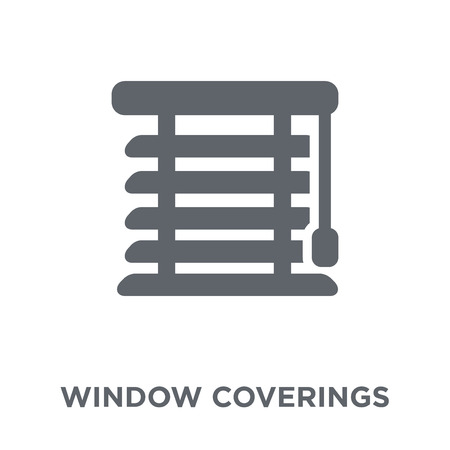 Window coverings icon. Window coverings design concept from Furniture and household collection. Simple element vector illustration on white background.