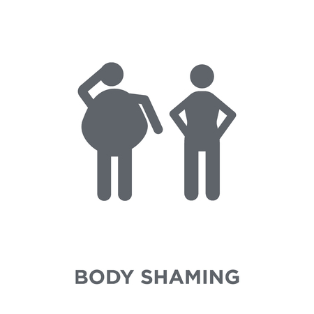body shaming icon. body shaming design concept from Hygiene collection. Simple element vector illustration on white background. Иллюстрация