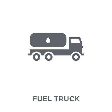 Fuel truck icon. Fuel truck design concept from  collection. Simple element vector illustration on white background.