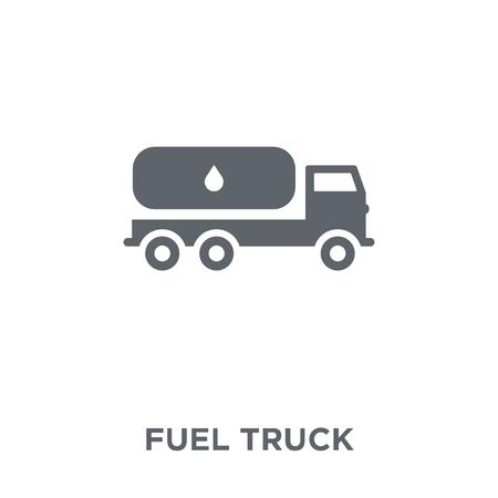 Tankwagen-Symbol. Designkonzept für Tankwagen aus der Sammlung. Einfache Elementvektorillustration auf weißem Hintergrund.