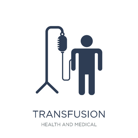 Transfusion icon. Trendy flat vector Transfusion icon on white background from Health and Medical collection, vector illustration can be use for web and mobile, eps10 Illustration