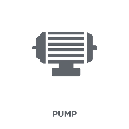 Pump icon. Pump design concept from  collection. Simple element vector illustration on white background. 向量圖像