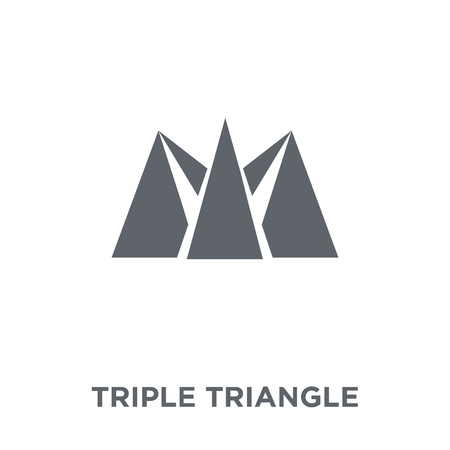 Triple triangle icon. Triple triangle design concept from Geometry collection. Simple element vector illustration on white background. Фото со стока - 112136365