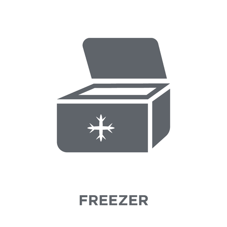 Freezer icon. Freezer design concept from Furniture and household collection. Simple element vector illustration on white background. Ilustracja