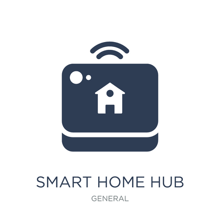 smart home hub icon. Trendy flat vector smart home hub icon on white background from General collection, vector illustration can be use for web and mobile, eps10 Illustration