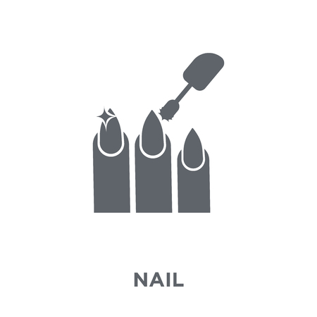 Nail icon. Nail design concept from  collection. Simple element vector illustration on white background.