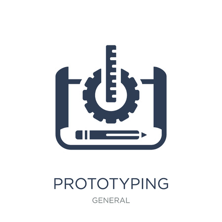 prototyping icon. Trendy flat vector prototyping icon on white background from General collection, vector illustration can be use for web and mobile, eps10