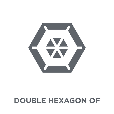 Double hexagon of small triangles icon. Double hexagon of small triangles design concept from Geometry collection. Simple element vector illustration on white background. Иллюстрация