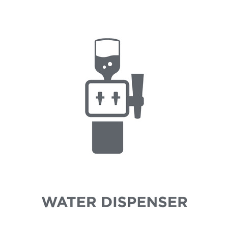 Water dispenser icon. Water dispenser design concept from Furniture and household collection. Simple element vector illustration on white background. Stok Fotoğraf - 112136377