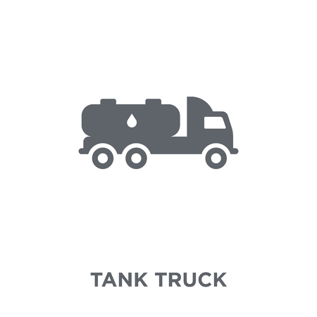 Tank truck icon. Tank truck design concept from collection. Simple element vector illustration on white background.