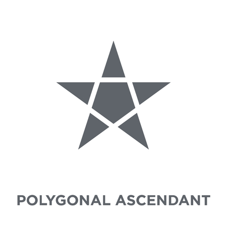 Polygonal ascendant signal icon. Polygonal ascendant signal design concept from Geometry collection. Simple element vector illustration on white background. Imagens - 112136381