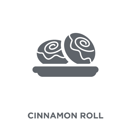 Cinnamon roll icon. Cinnamon roll design concept from Restaurant collection. Simple element vector illustration on white background.