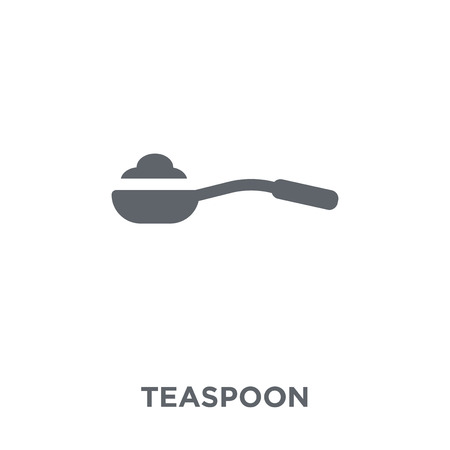 teaspoon icon. teaspoon design concept from Kitchen collection. Simple element vector illustration on white background.