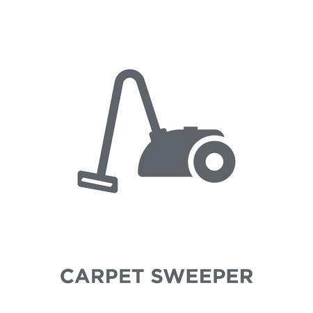 Carpet sweeper icon. Carpet sweeper design concept from Furniture and household collection. Simple element vector illustration on white background. Ilustracja