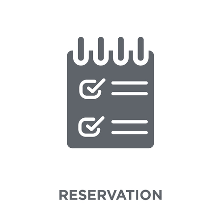 Reservation icon. Reservation design concept from Restaurant collection. Simple element vector illustration on white background.