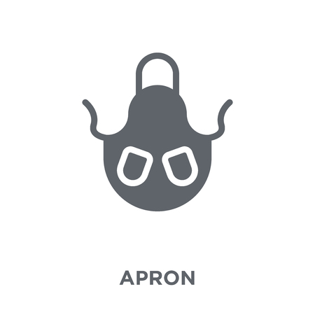 Apron icon. Apron design concept from  collection. Simple element vector illustration on white background. Banque d'images - 112136842
