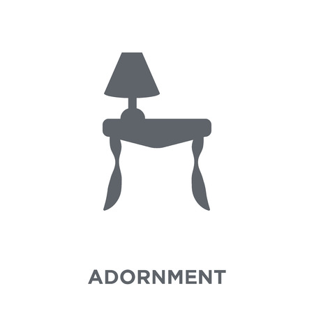 Adornment icon. Adornment design concept from Furniture and household collection. Simple element vector illustration on white background.