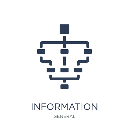 information architecture icon. Trendy flat vector information architecture icon on white background from general collection, vector illustration can be use for web and mobile, eps10 Vektorové ilustrace