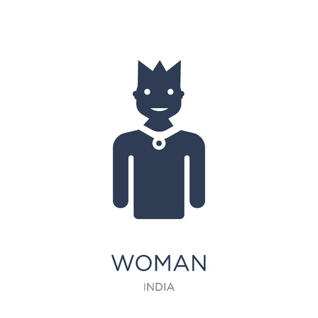 Woman icon. Trendy flat vector Woman icon on white background from india collection, vector illustration can be use for web and mobile, eps10