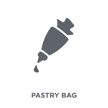 Pastry bag icon. Pastry bag design concept from Kitchen collection. Simple element vector illustration on white background.