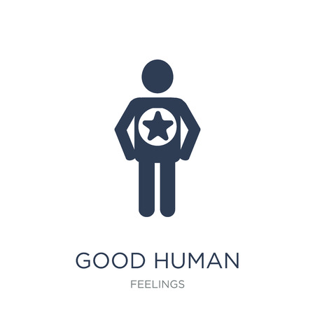 good human icon. Trendy flat vector good human icon on white background from Feelings collection, vector illustration can be use for web and mobile, eps10
