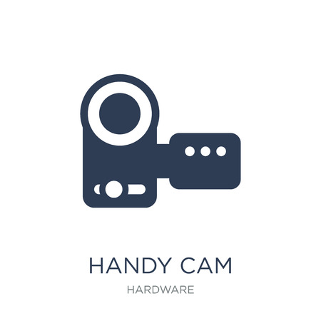 Handy Cam icon. Trendy flat vector Handy Cam icon on white background from hardware collection, vector illustration can be use for web and mobile, eps10