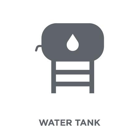Icono de tanque de agua. Concepto de diseño de tanque de agua de colección. Ilustración de vector de elemento simple sobre fondo blanco. Ilustración de vector