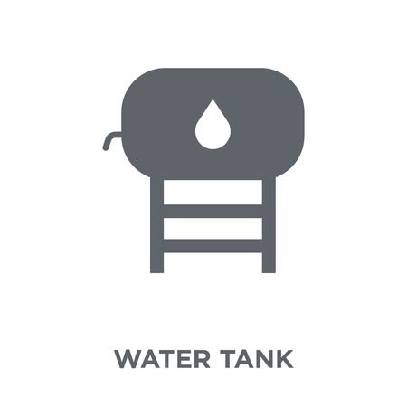 Water tank icon. Water tank design concept from  collection. Simple element vector illustration on white background. Çizim