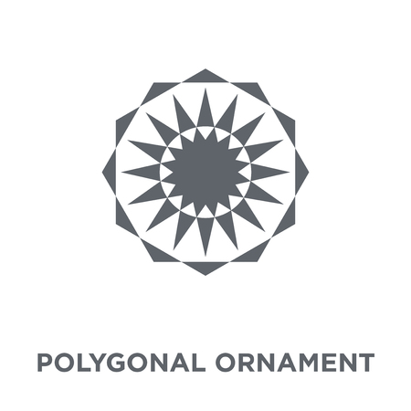 Polygonal ornament icon. Polygonal ornament design concept from Geometry collection. Simple element vector illustration on white background.