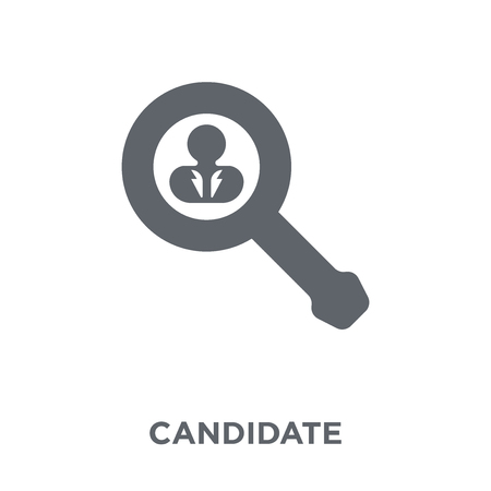 Candidate icon. Candidate design concept from Human resources collection. Simple element vector illustration on white background.