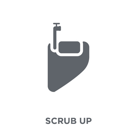 scrub up icon. scrub up design concept from Hygiene collection. Simple element vector illustration on white background. Ilustração