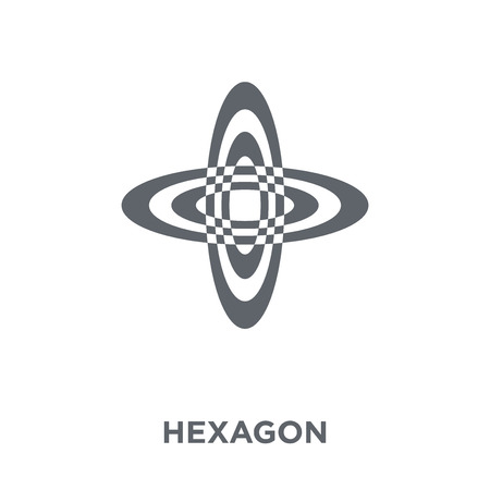 Hexagon icon. Hexagon design concept from Geometry collection. Simple element vector illustration on white background.