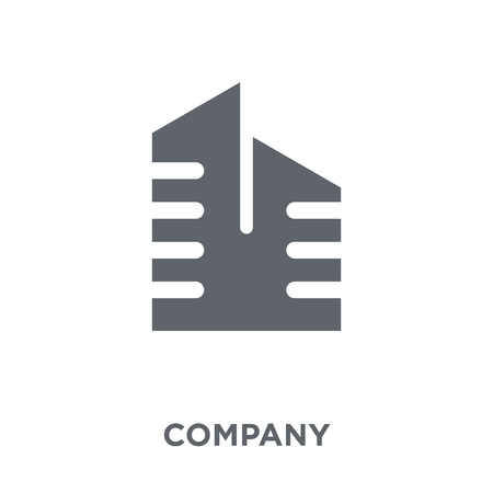 Company icon. Company design concept from Human resources collection. Simple element vector illustration on white background. Archivio Fotografico - 112137099