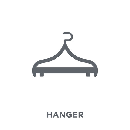 Hanger icon. Hanger design concept from Furniture and household collection. Simple element vector illustration on white background.