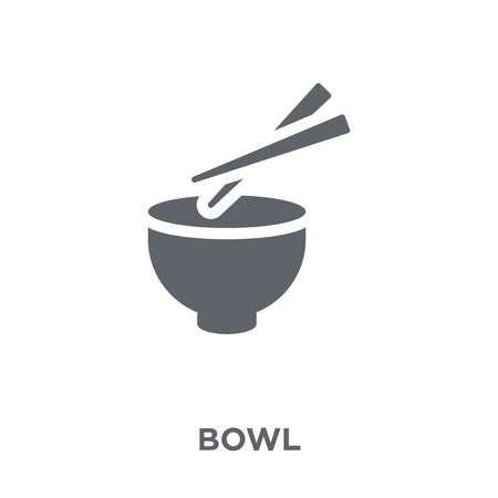 Bowl icon. Bowl design concept from  collection. Simple element vector illustration on white background. Illustration