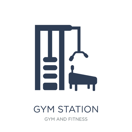 Gym Station icon. Trendy flat vector Gym Station icon on white background from Gym and fitness collection, vector illustration can be use for web and mobile, eps10