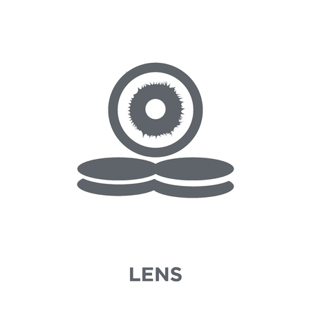 Lens icon. Lens design concept from  collection. Simple element vector illustration on white background.