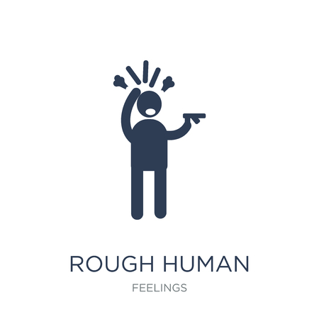 rough human icon. Trendy flat vector rough human icon on white background from Feelings collection, vector illustration can be use for web and mobile, eps10