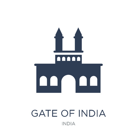 Gate of india icon. Trendy flat vector Gate of india icon on white background from india collection, vector illustration can be use for web and mobile, eps10