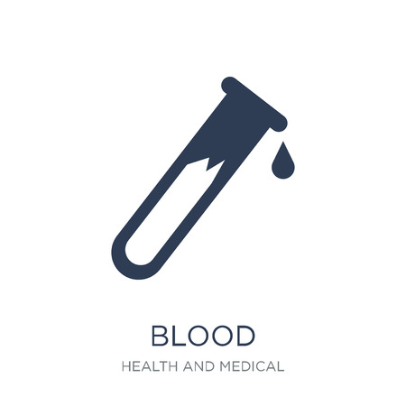 Blood icon. Trendy flat vector Blood icon on white background from Health and Medical collection, vector illustration can be use for web and mobile, eps10