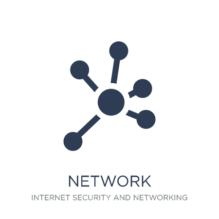 Network icon. Trendy flat vector Network icon on white background from Internet Security and Networking collection, vector illustration can be use for web and mobile, eps10