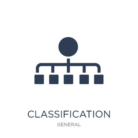 classification icon. Trendy flat vector classification icon on white background from general collection, vector illustration can be use for web and mobile, eps10 Illusztráció