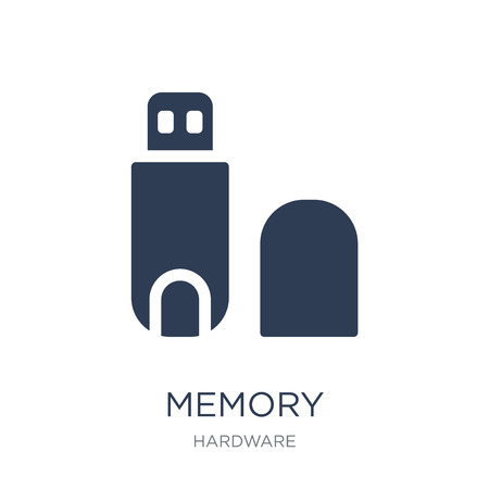 Memory icon. Trendy flat vector Memory icon on white background from hardware collection, vector illustration can be use for web and mobile, eps10