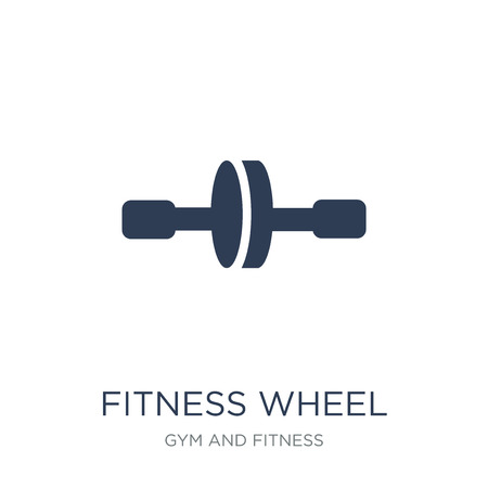 fitness Wheel icon. Trendy flat vector fitness Wheel icon on white background from Gym and fitness collection, vector illustration can be use for web and mobile, eps10
