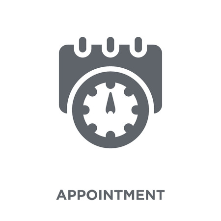 Appointment icon. Appointment design concept from Human resources collection. Simple element vector illustration on white background. Stockfoto - 112137253